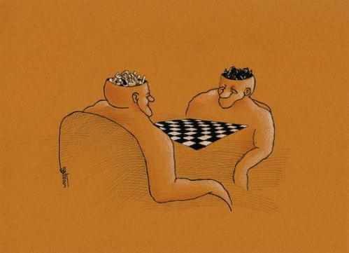 Cartoon: Chess (medium) by Kianoush tagged cartoons,kianoosh