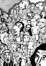 Cartoon: 150 leute (small) by bona tagged men,man,women,woman,people,faces,typen,caracters