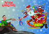 Cartoon: merry xmas! (small) by sziwery tagged michaelangelo