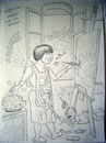 Cartoon: Ambitious woman (small) by caknuta-chajanka tagged art painting mother kids