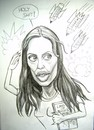 Cartoon: Angelina Jolie on critics fire (small) by caknuta-chajanka tagged famous,person