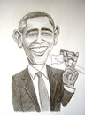 Cartoon: Obama (small) by caknuta-chajanka tagged famous,person,president
