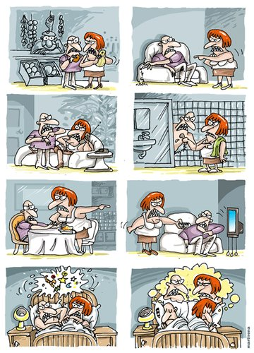 Cartoon: Bad relations (medium) by martirena tagged bad,relations,marriages,pairs,violence,you,fight,domesticate