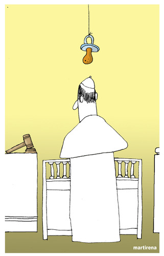 Cartoon: Paedophilia in the church (medium) by martirena tagged pedophilia,catholic,church