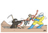 Cartoon: Battle against Ebola (small) by martirena tagged cattle,ebola