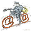 Cartoon: Postal mail (small) by martirena tagged postal,mail,internet
