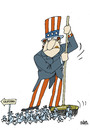 Cartoon: The emigration to USA (small) by martirena tagged emigration,usa