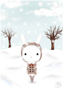 Cartoon: Under the snow (small) by Bluecy tagged snow white rabbit schneehase schnee winter