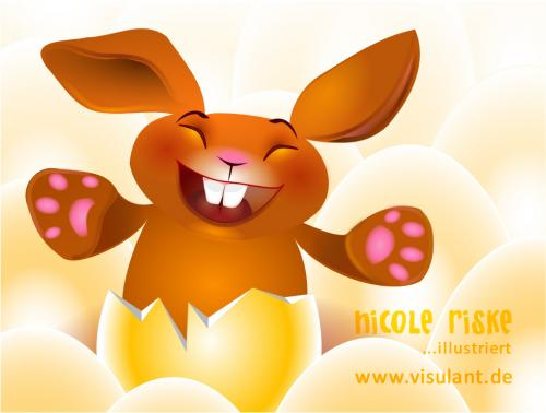 Cartoon: Happy Easter (medium) by miralolle tagged ostern,easter,hase,bunny,ei,egg,eier,eggs,