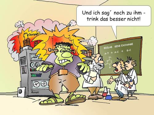 Cartoon: neulich im Labor (medium) by wista tagged labor,experiment,versuch,gen,gene