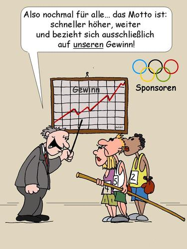 Cartoon: Sponsoren Olymp (medium) by wista tagged olympia,2012,london,sponsoren,sponsor,sponsoring,sport,sportler,kommerz,gewinn,kommerzialisierung,commerz,höchstleistung