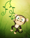 Cartoon: A Random Monkey (small) by kellerac tagged kellerac,cartoon,caricatura,cute,maria,keller,monkey,painting,illustration,animal