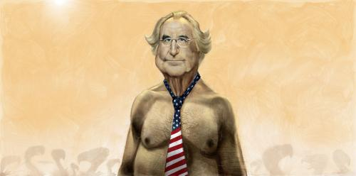 Cartoon: Bernard Madoff (medium) by Ausgezeichnet tagged bernie,bernard,madoff,caricature,karikature,portrait,money,finance,crisis,desaster,hedge,fonds,superrich,con