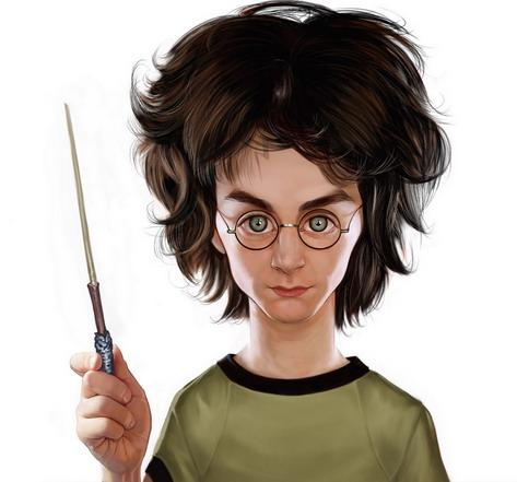 Cartoon: Harry Potter (medium) by Ausgezeichnet tagged wizard,zauberer,zauberstab,caricature,karikatur,