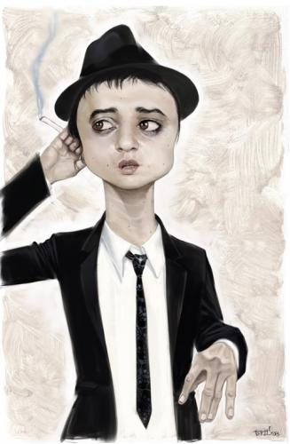 Cartoon: Pete Doherty (medium) by Ausgezeichnet tagged pete,doherty,caricature,fag,smoke,drugs,stuff,cool,hazy