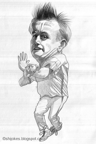 Cartoon: Scott Styris (medium) by shijo varghese tagged cricket,styris,scott