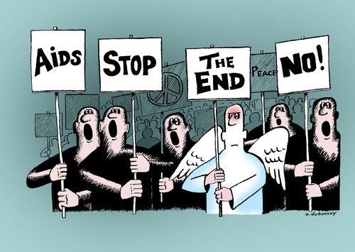 Cartoon: The end (medium) by Dubovsky Alexander tagged the,end,protest,demonstration