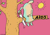 Cartoon: Aids (small) by Dubovsky Alexander tagged aids,condom