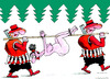 Cartoon: Hunters (small) by Dubovsky Alexander tagged valentaine,day,hunters,love,sex