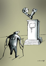 Cartoon: monument (small) by Dubovsky Alexander tagged footbal,euro,2012,ball,monument