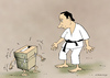 Cartoon: The fight election (small) by Dubovsky Alexander tagged elections,russia,putin,voter,poll