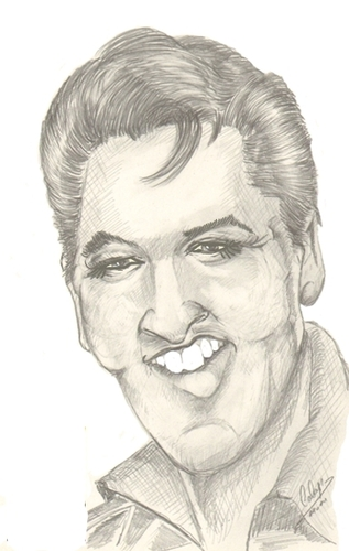 Cartoon: Caricature from Elvis (medium) by cabap tagged caricature