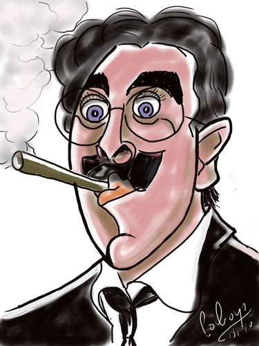 Cartoon: Groucho Marx (medium) by cabap tagged caricature