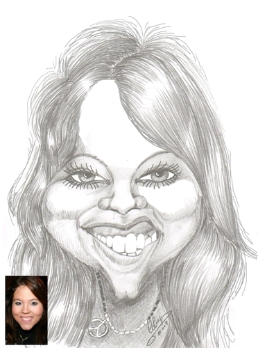 Cartoon: Natalie a caricaturefriend (medium) by cabap tagged caricature