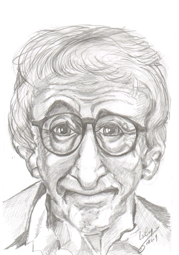 Cartoon: Woody Allen (medium) by cabap tagged caricature
