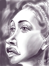 Cartoon: Dorothy Lamour (small) by cabap tagged caricature