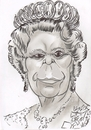 Cartoon: Elizabeth Alexandra Mary Windsor (small) by cabap tagged caricature
