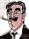 Cartoon: Groucho Marx (small) by cabap tagged caricature