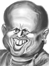 Cartoon: IPAD  Verne  Troyer (small) by cabap tagged caricature,ipad