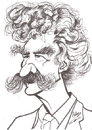 Cartoon: Marc Twain (small) by cabap tagged caricature
