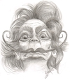 Cartoon: Salvador Dali (small) by cabap tagged caricatures