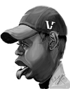 Cartoon: Tiger Woods (small) by cabap tagged ipad,caricatures