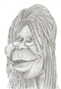 Cartoon: Whoopi Goldberg (small) by cabap tagged caricature