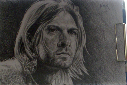 Cartoon: Kurt Cobain (medium) by szomorab tagged kurt,cobain,nirvana