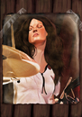 Cartoon: Meg White 2 (small) by szomorab tagged white stripes jack meg rock music