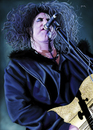 Cartoon: Robert Smith (small) by szomorab tagged robert,smith,the,cure,alternative,rock,music,makeup,guitar
