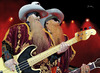 Cartoon: ZZ TOP (small) by szomorab tagged zz top rock music