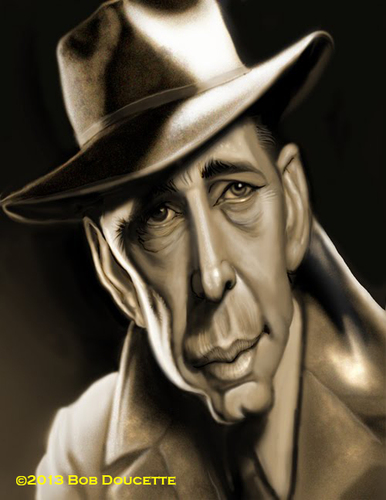Cartoon: Humphrey Bogart (medium) by tobo tagged humprey,bogart,caricature