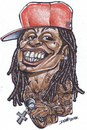 Cartoon: lil wayne (small) by dumo tagged rapper,lil,wayne,hip,hop,musician,caricature,color