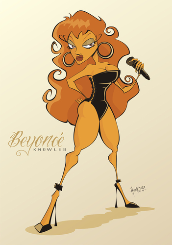 Cartoon: Vector caricature cartoon style (medium) by Hellder Gonzales tagged diva,music,caricature,school,new,cartoon,vector,beyonce