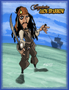 Cartoon: Captain Jack Sparrow (small) by Hellder Gonzales tagged captain,jack,sparrow,pirates,caribean,cartoon,style