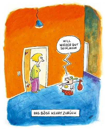 Cartoon: das böse (medium) by ari tagged child,mother,evil,