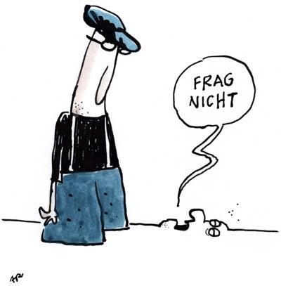 Cartoon: Frag nicht (medium) by ari tagged it,happens