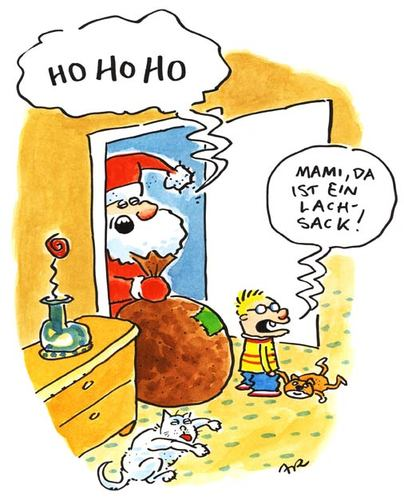 Cartoon: Ho Ho Ho (medium) by ari tagged weihnachten,nikolaus,sack,kind,weihnachtsmann,ho