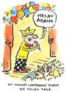 Cartoon: helau (small) by ari tagged helau,karneval,fasching,feier,carpendale,schlager,fest,sänger,party