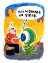 Cartoon: Ich komme (small) by ari tagged visitor